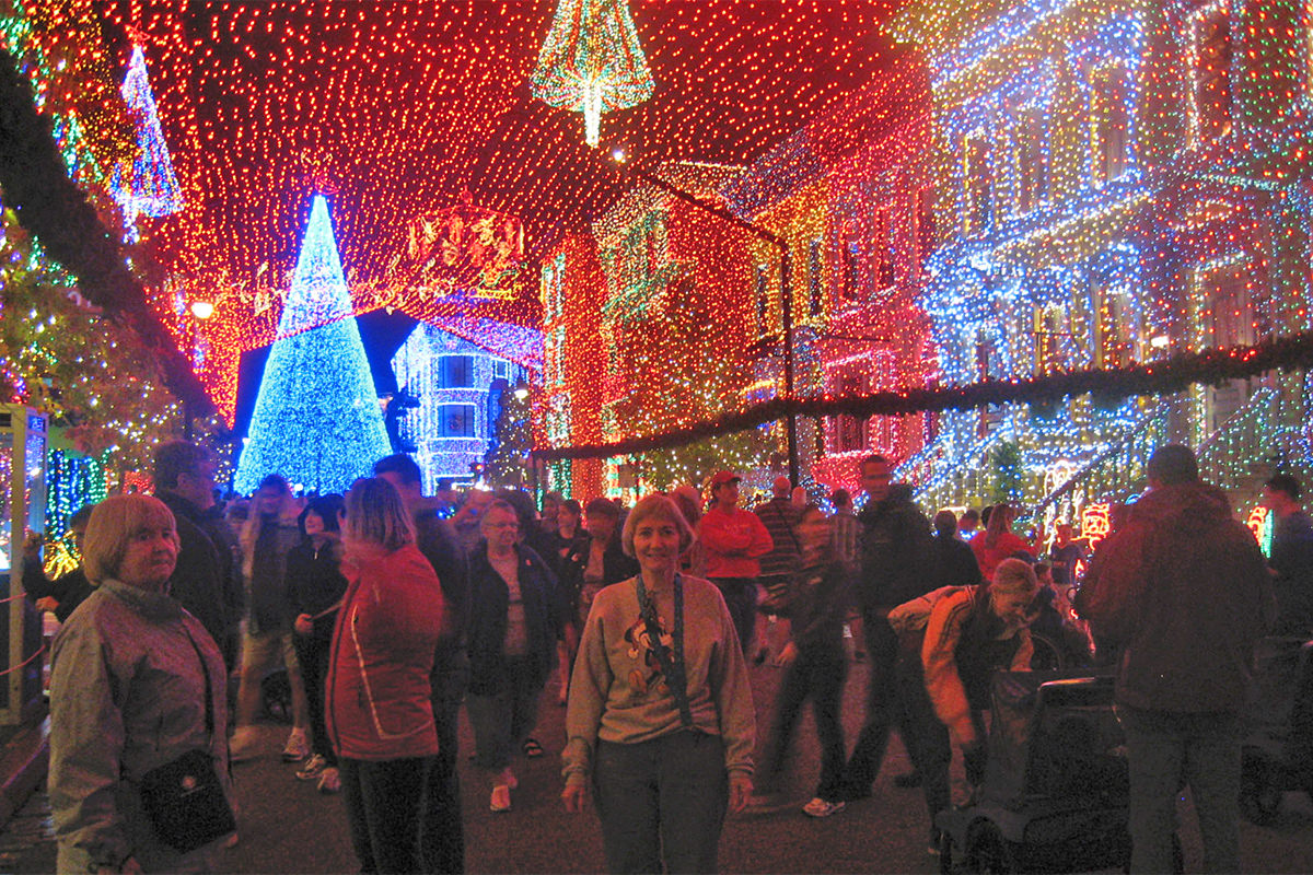 Mom at The Osborne Family Spectacle of Dancing Lights