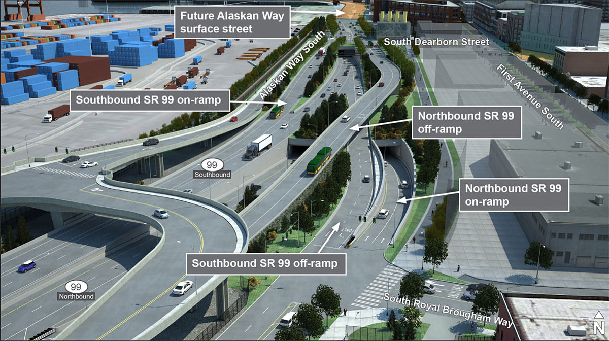 Seattle's SR-99 Tunnel On/Off Ramps