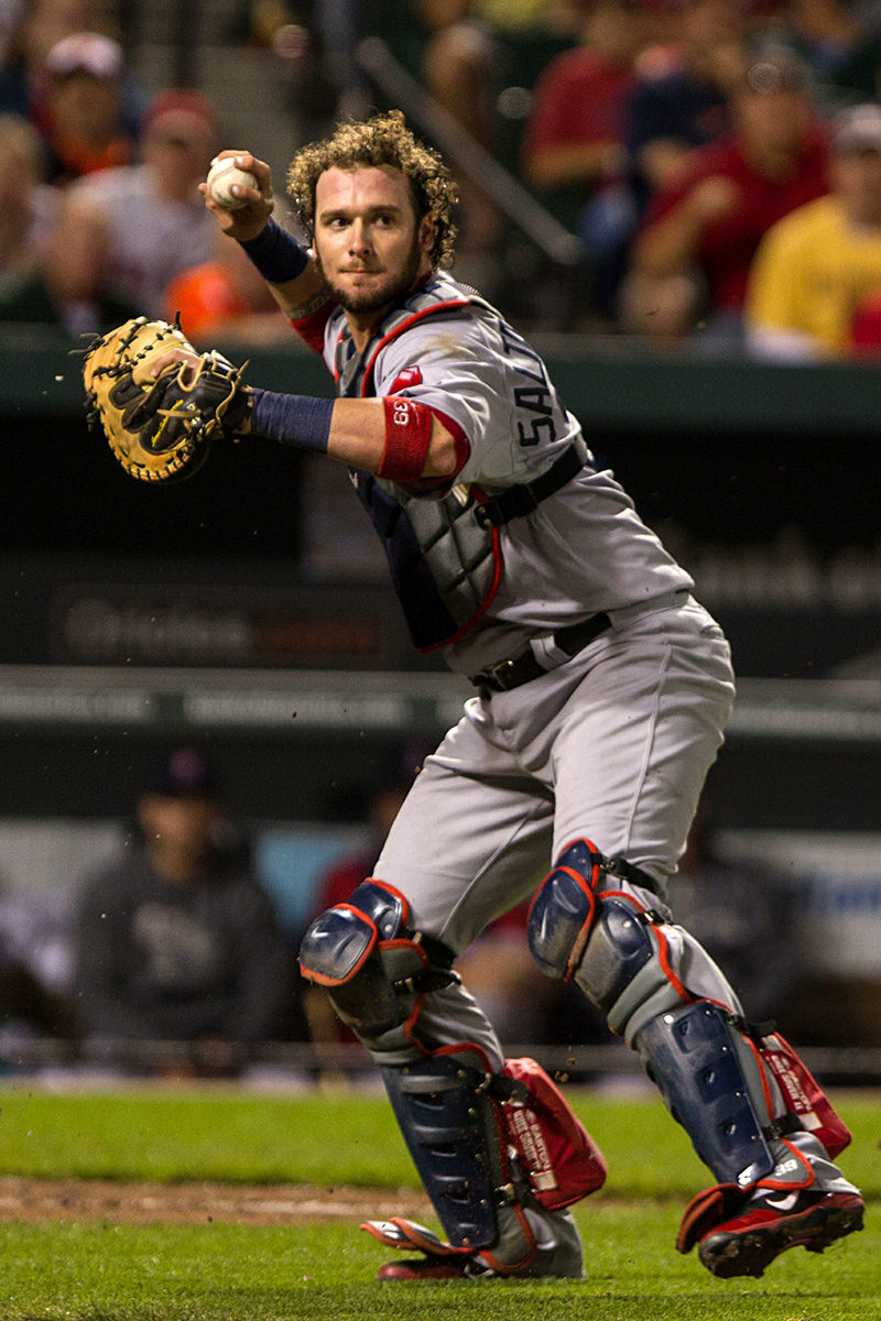 Jarrod Saltalamacchia by Keith Allison