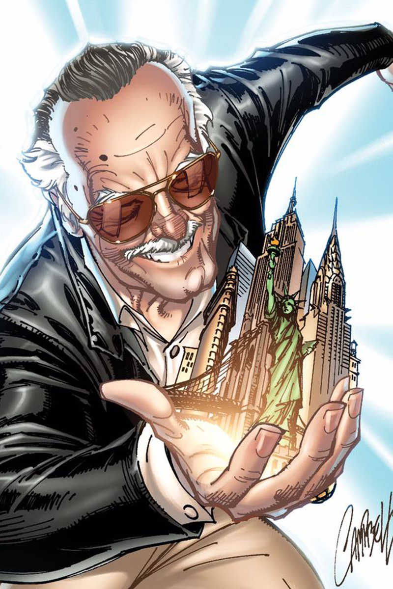 J. Scott Campbell draws Stan Lee