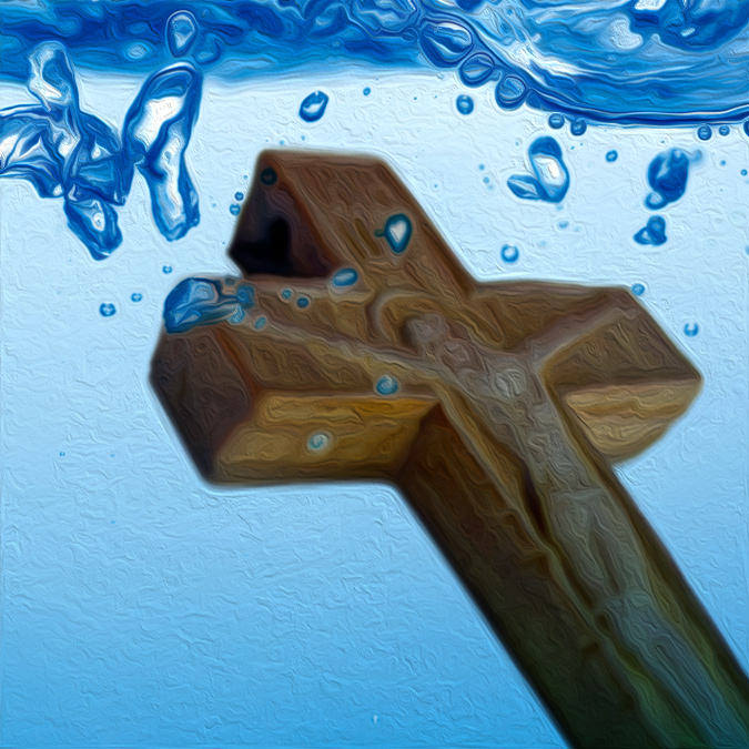 Cross in Water