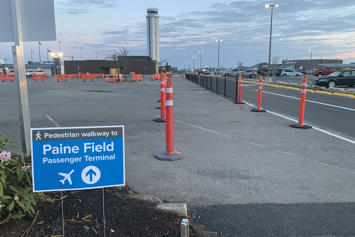 Paine Field Temporary Walkway