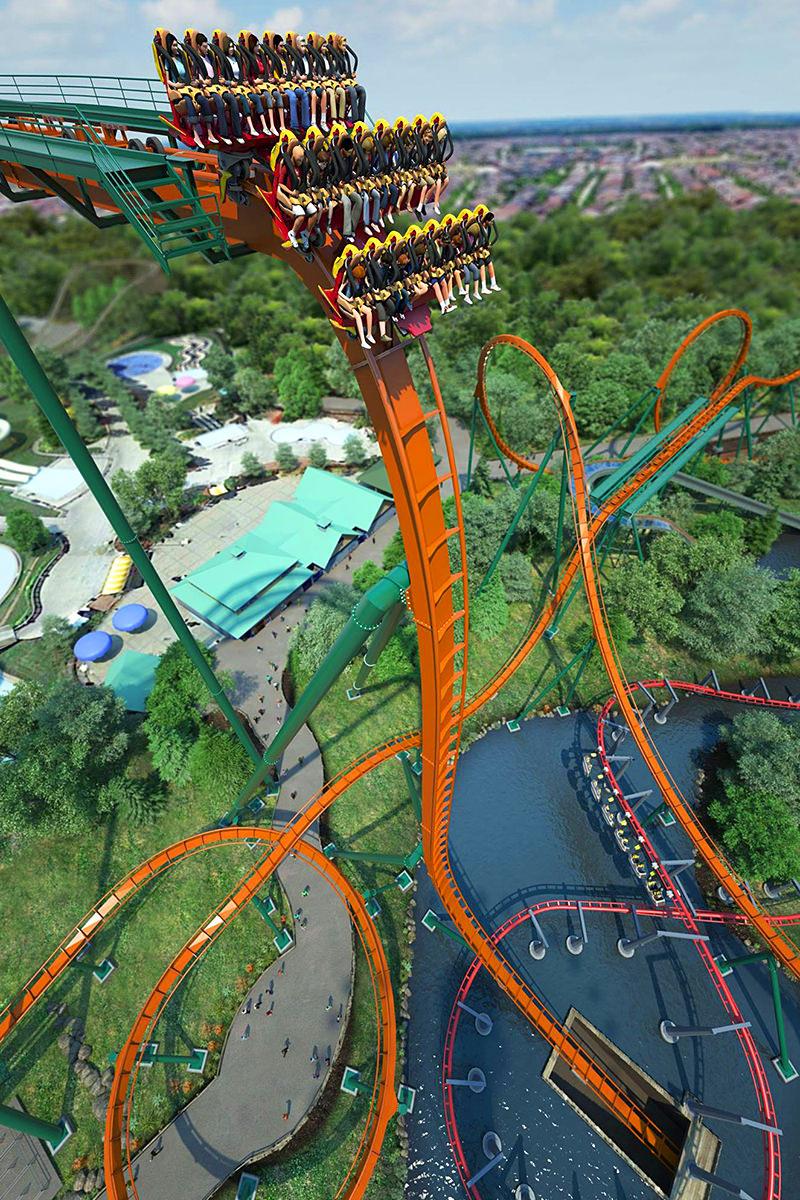 Yukon Striker Roller Coaster Canada's Wonderland
