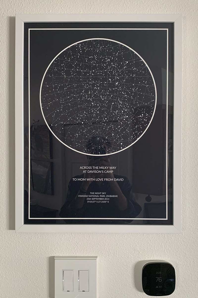 My Night Sky Star Map Print