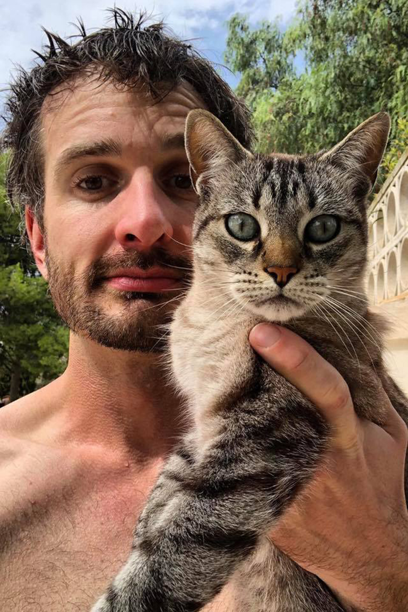 David Farrier and a Cat