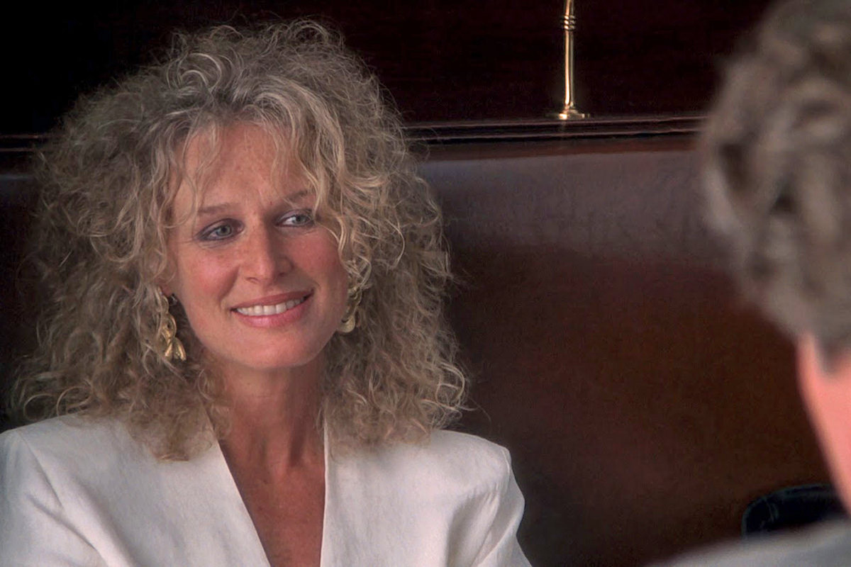 Glenn Close looking particularly devious in Fatal Attraction.