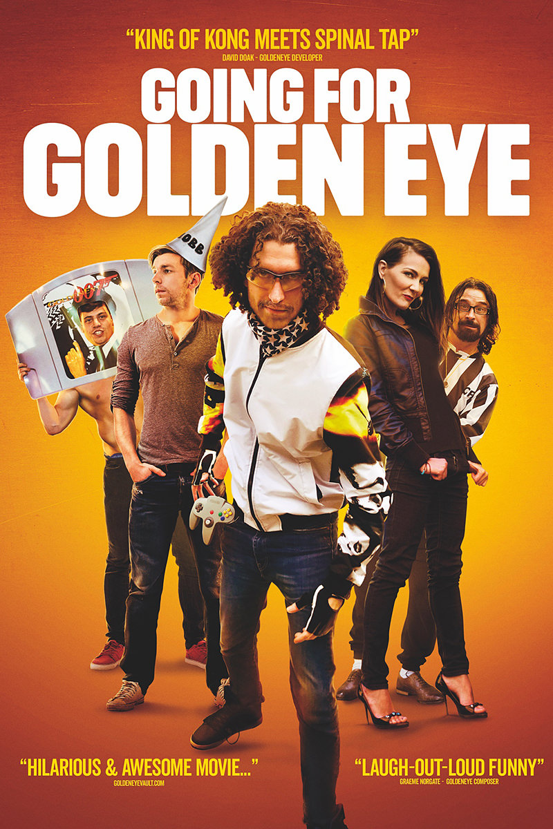 Going for Golden Eye Movie Poster featuring video gamers ready for action!