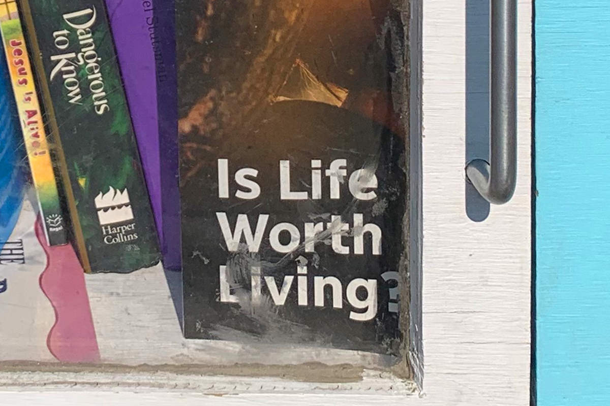 Little Library Box — Is Life Worth Living Pamhplet!