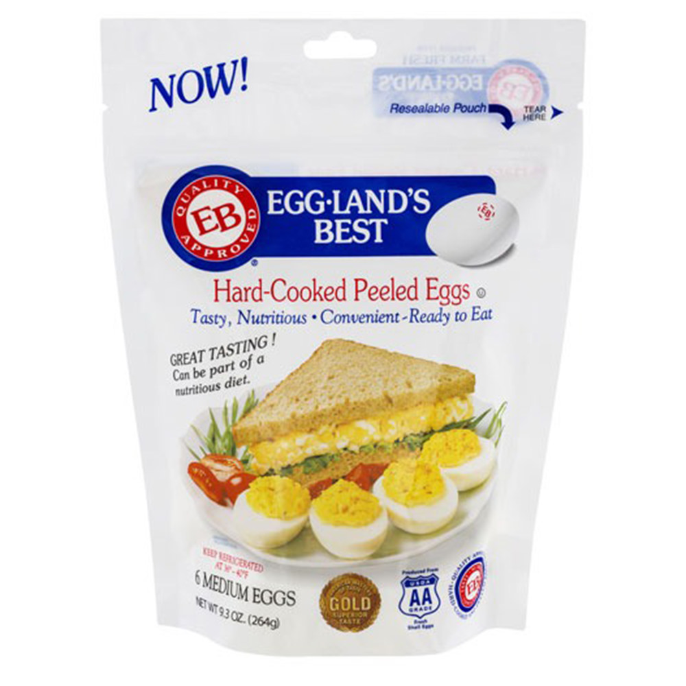 A Bag of Egg-Land's Best pre-hard-boiled and pre-shelled eggs!