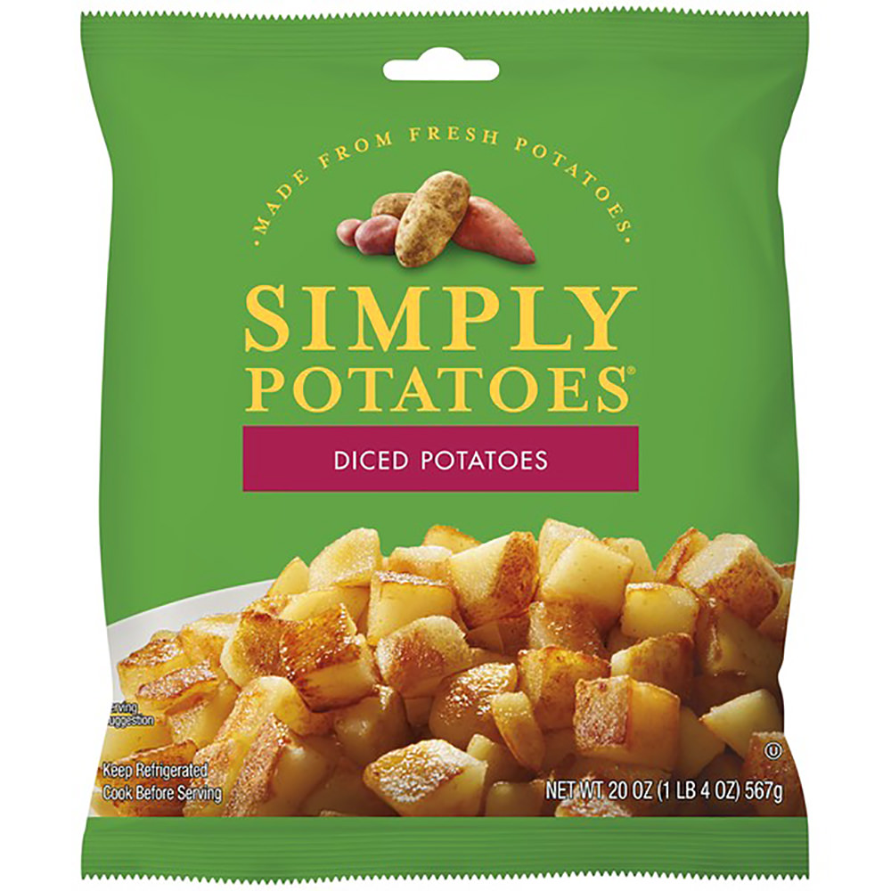 A Bag of Simply Potatoes pre-peeled and pre-diced for your eating pleasure!