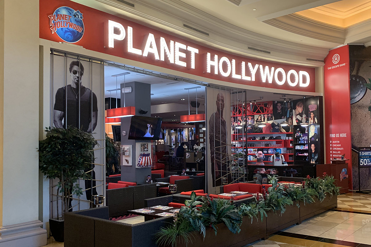 The new and un-improved Planet Hollywood restaurant in Las Vegas. Sad.