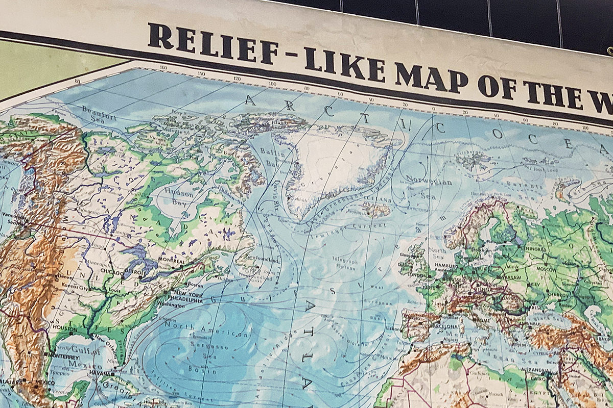 RELIEF-LIKE MAP OF THE WORLD!