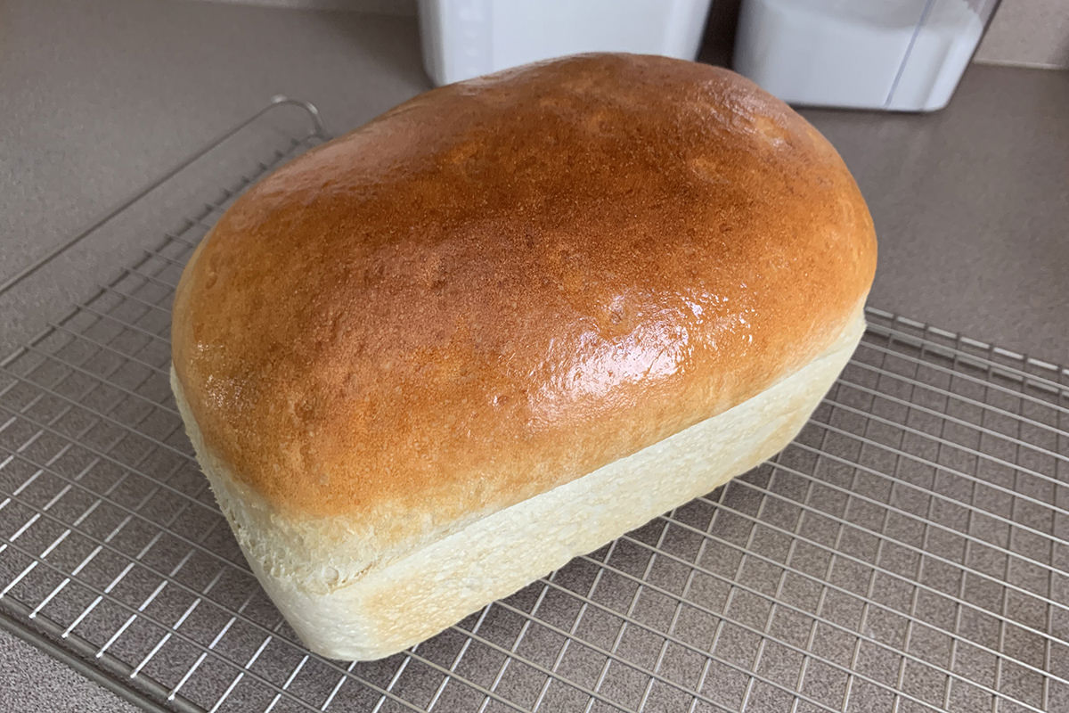 The most gorgeous loaf of homebaked bread you've ever seen.