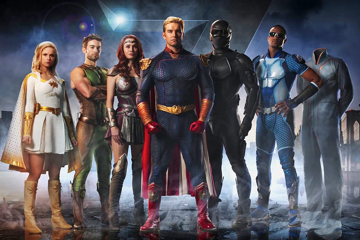 An image of The Seven, a super-hero group from the Amazon mini series The Boys