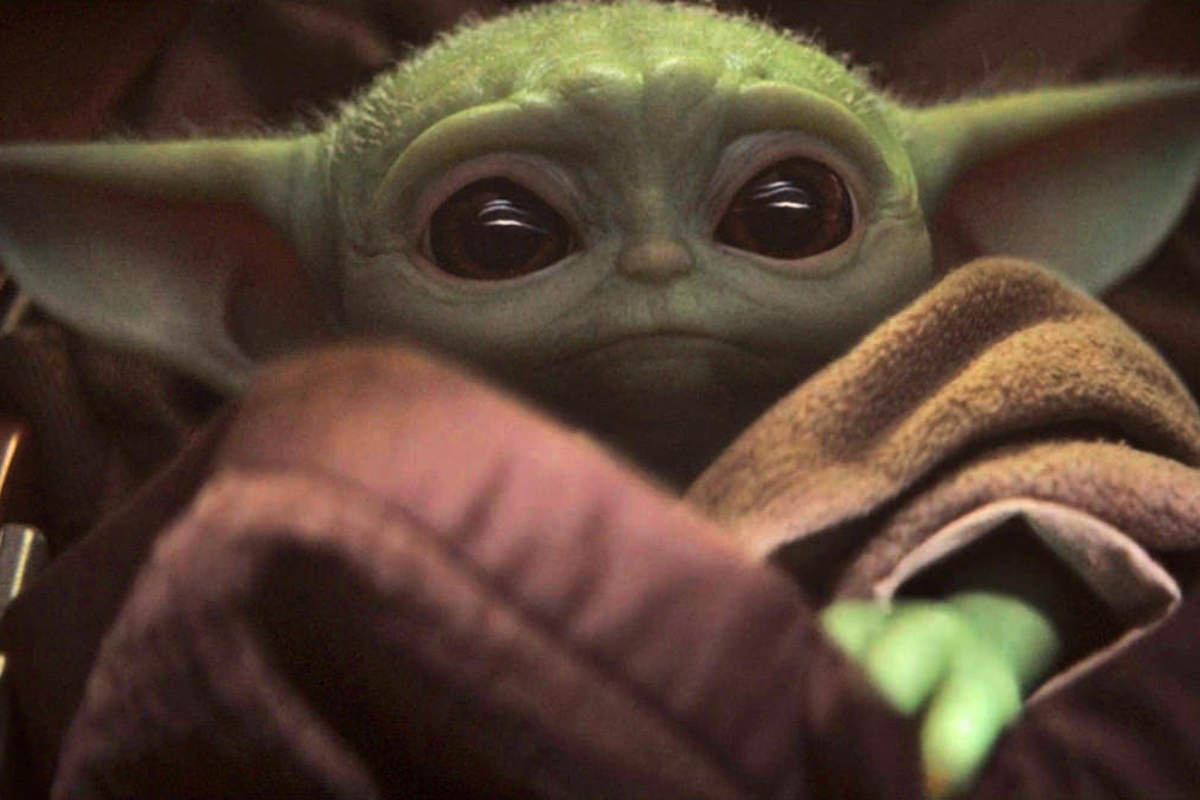 Baby Yoda creature from The Mandalorian