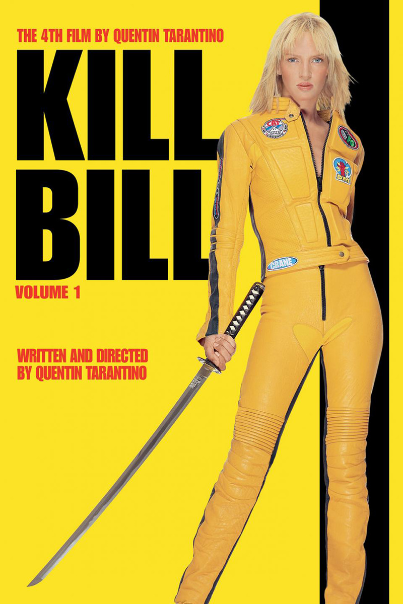Kill Bill Volume 1 Movie Poster with Uma Thurman