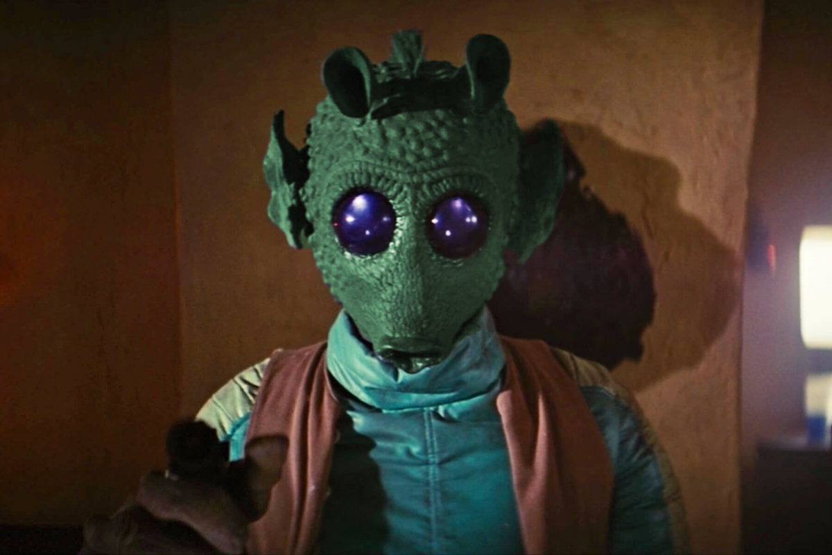 Greedo from Star Wars looking manacing.