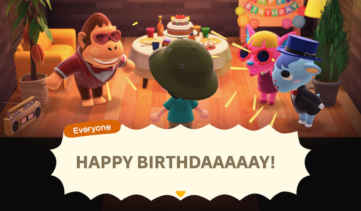 My animal friends throwing me a birthday party.