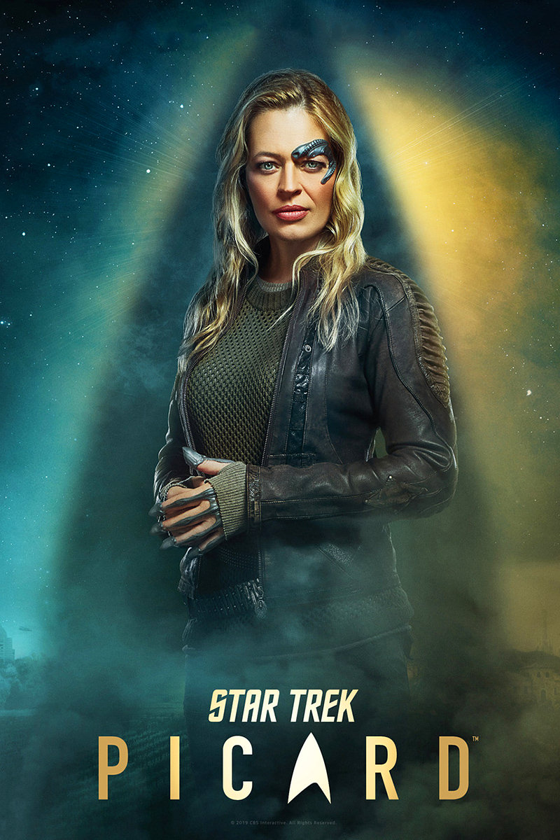 A poster for CBS's Star Trek: Picard with Jeri Ryan as Borg Seven of Nine.