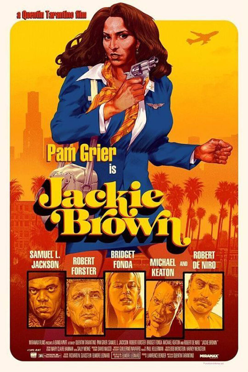 Quentin Tarantino's Jackie Brown Movie Poster.