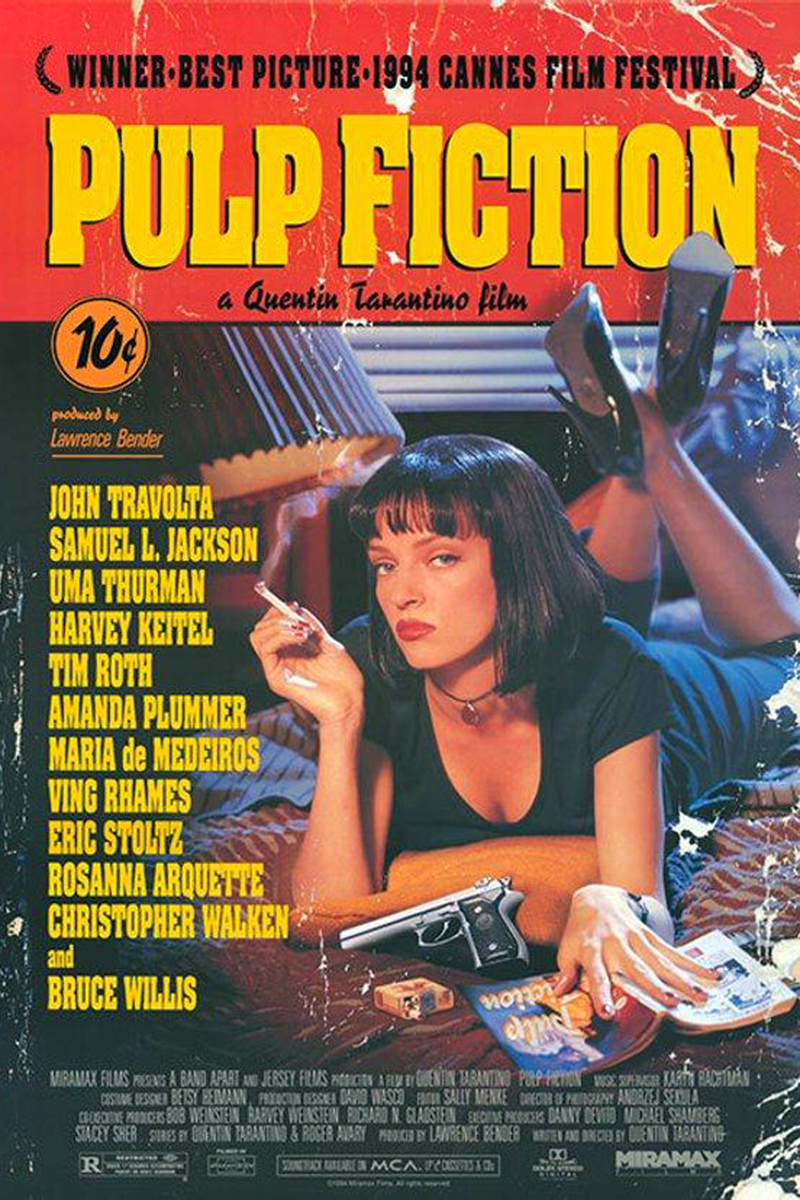 Quentin Tarantino's Pulp Fiction Movie Poster.