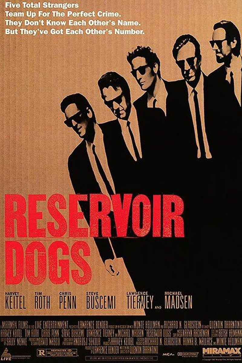 Quentin Tarantino's Reservoir Dogs Movie Poster.