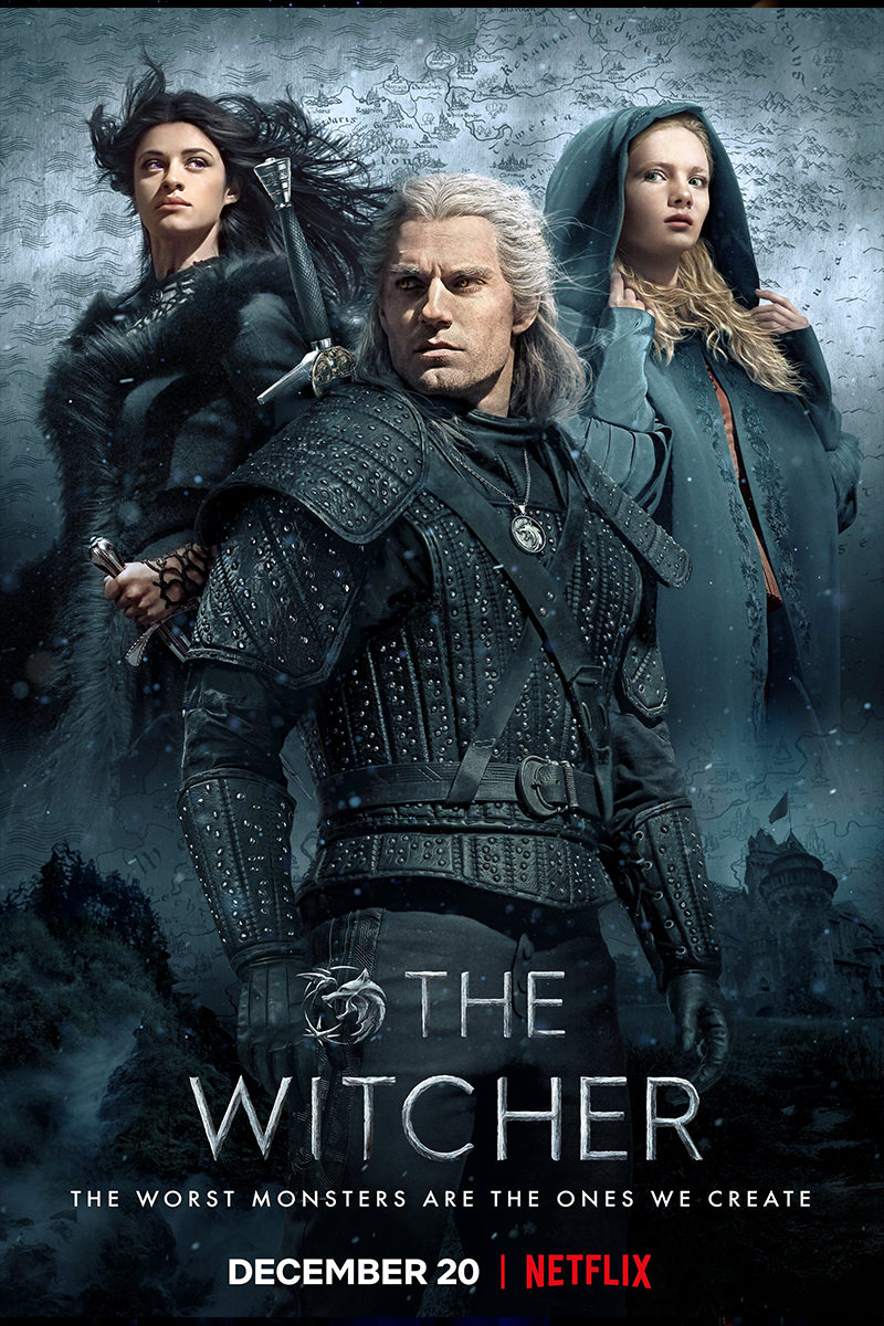 A poster for Netflix's The Witcher.