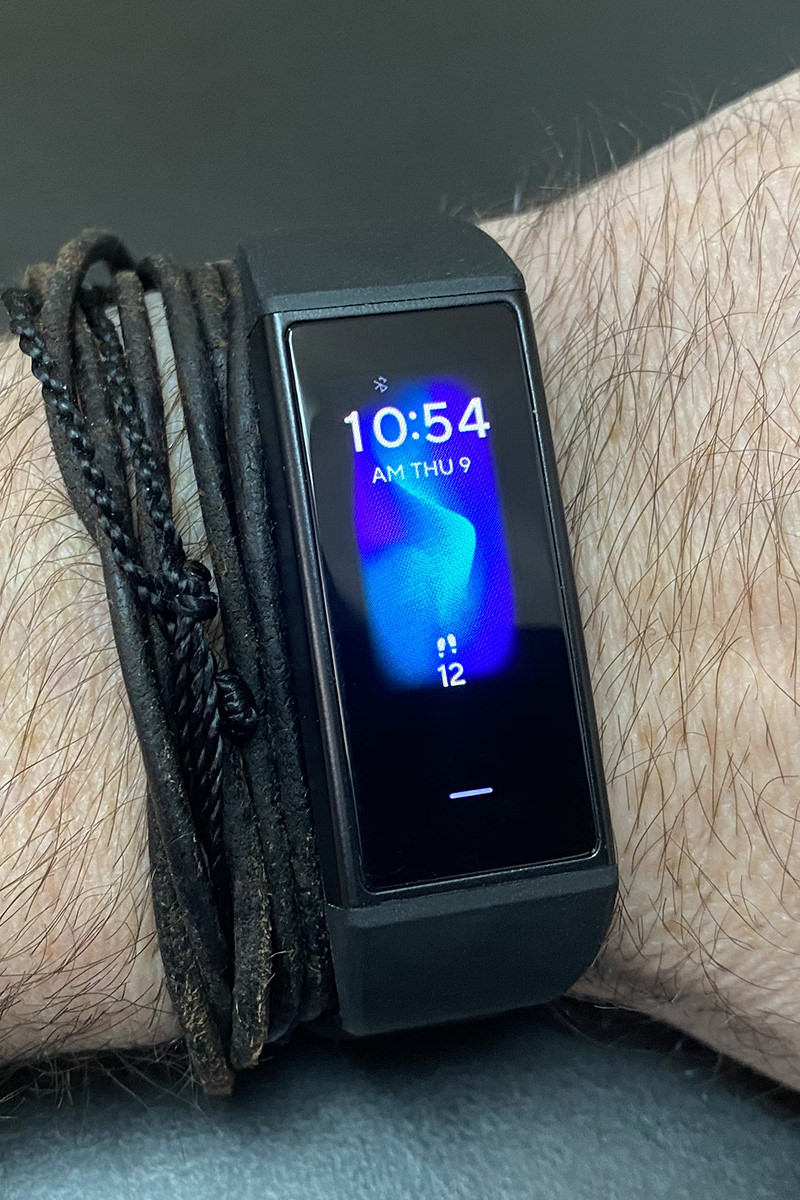 My Wyze Band on my wrist looking all black and stylish.