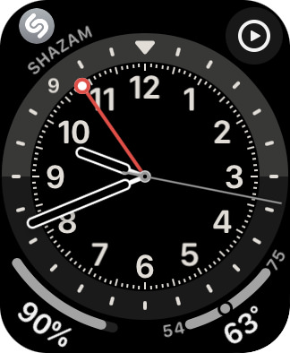 GMT watch face.