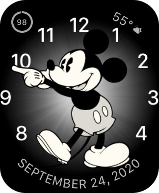 Mickey watch face with the DATE on it.