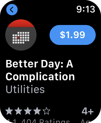 The Better Day Complication on the Apple Watch App Store.