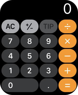 A mini calculator on my Apple Watch!