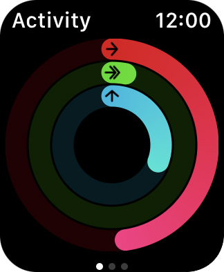 My activity rings on Apple Watch!