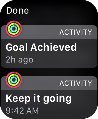 An alert telling me I reached one of my fitness goals!