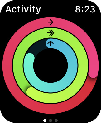 Apple Watch filling in my fitness rings!