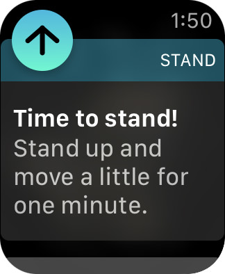 Reminder to Stand on Apple Watch!
