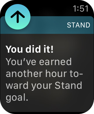 You did it! on Apple Watch!
