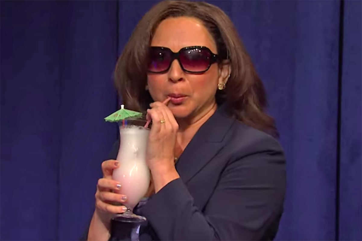 Maya Rudolph being Kamala Harris.