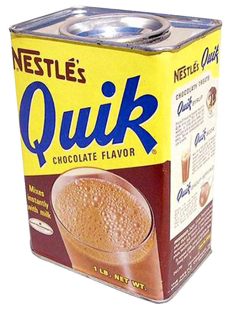 A vintage tin of original Nestlé Quik.