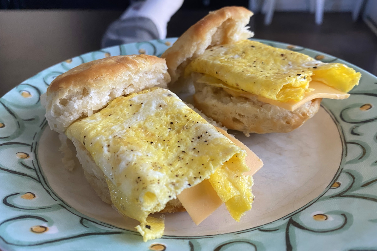 The perfect egg and cheese biscuit.