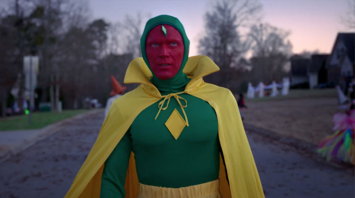 Vision in his comic book costume.