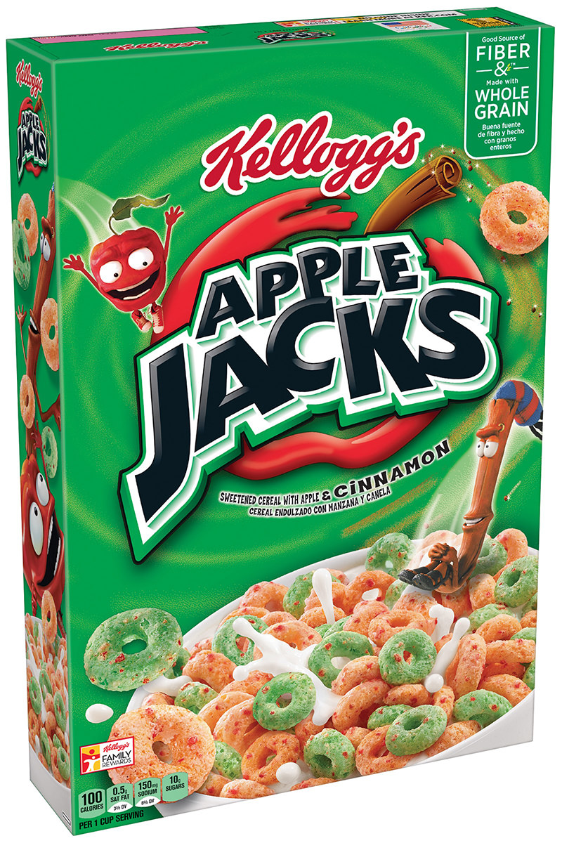 A box of Apple Jacks cereal.