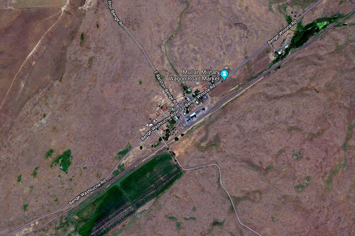 Satellite View of Benge, Washington.