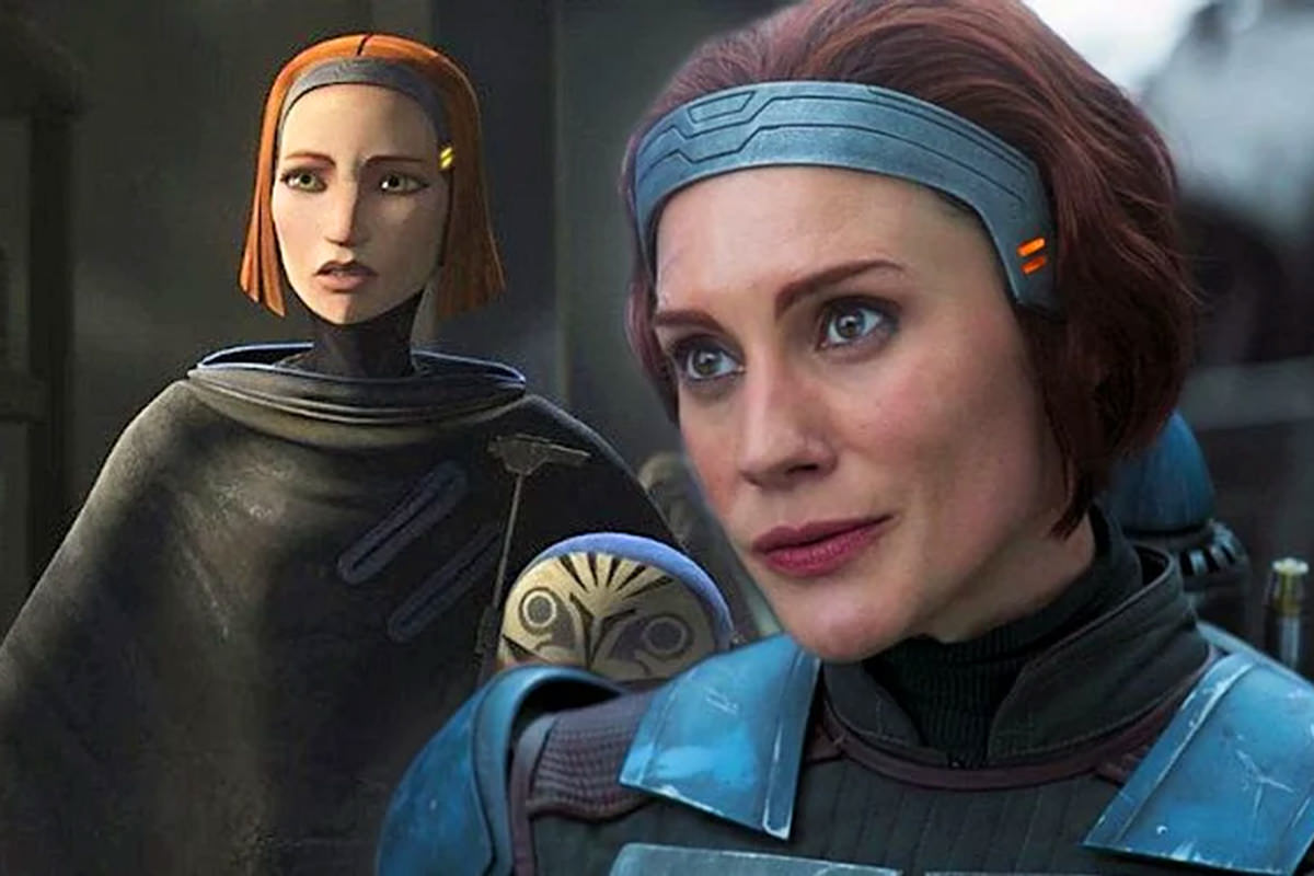 Bo Katan in animation and in live-action.