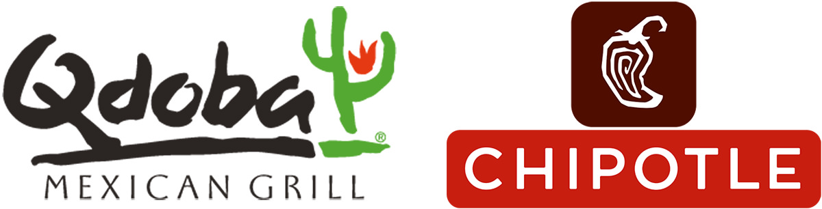 Qdoba and Chipotle Logos