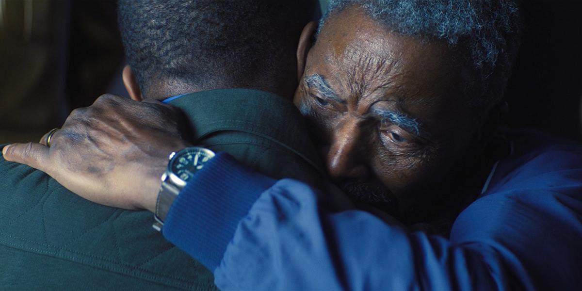 Isaiah Bradley hugging Sam Wilson.
