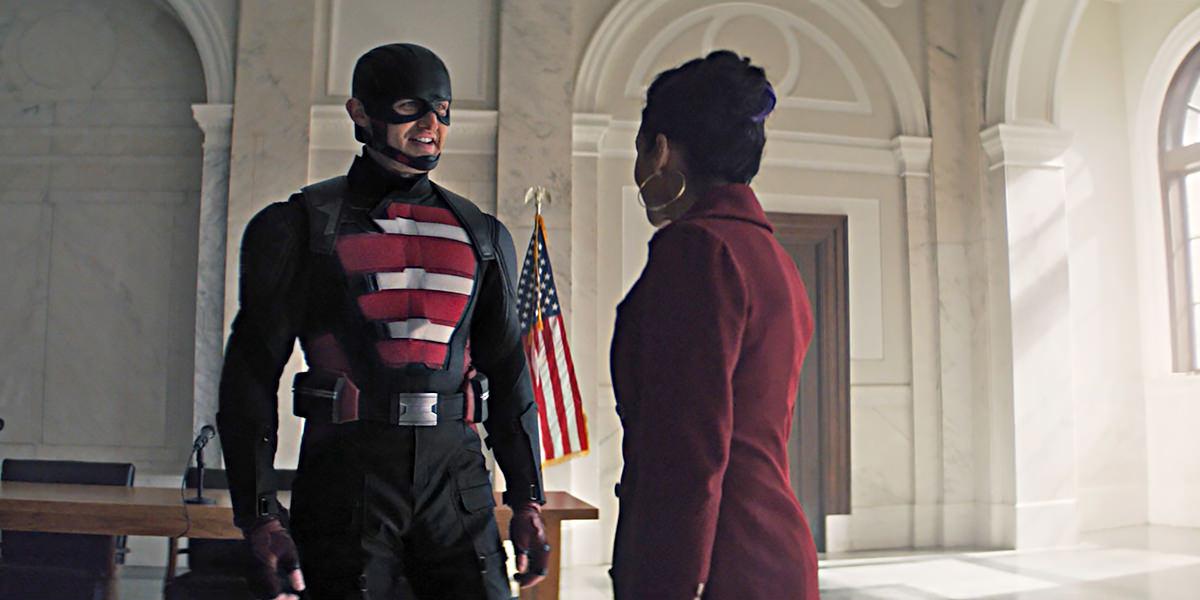 John Walker in his new U.S. Agent costume.