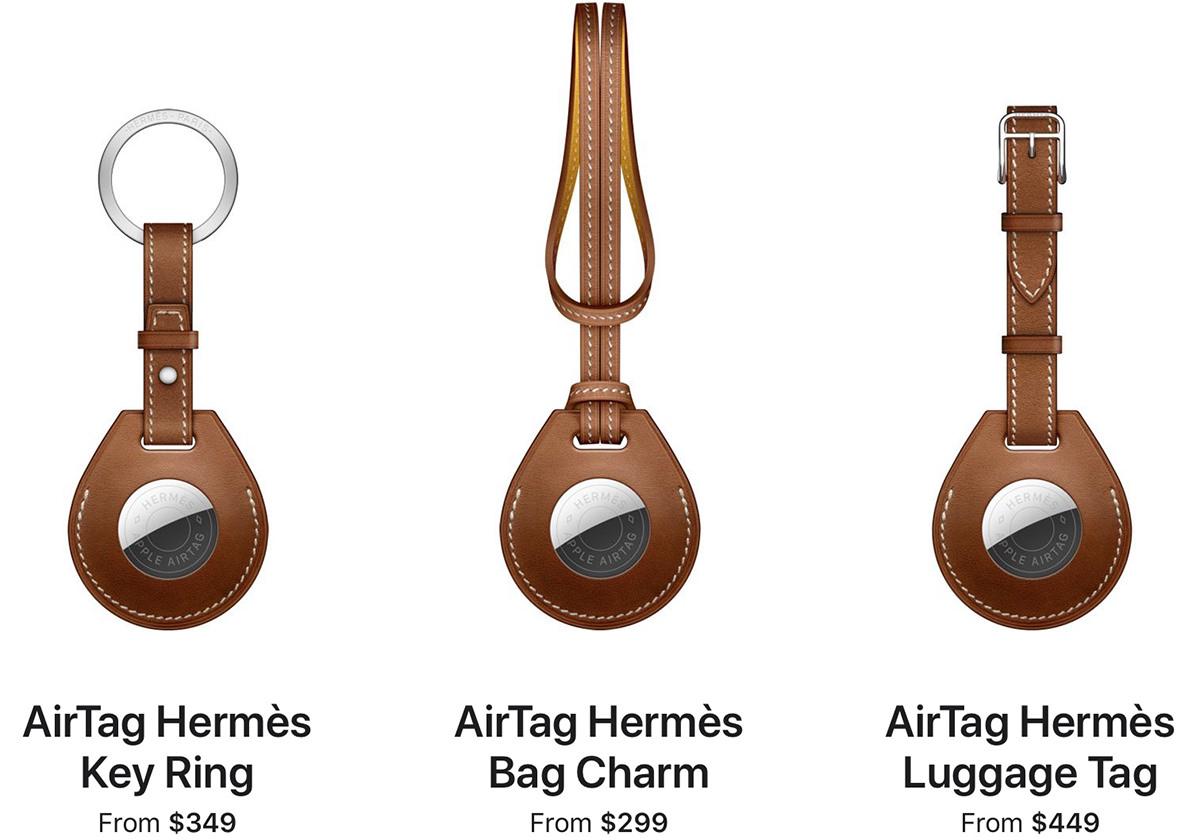 Key Ring: $349, Bag Charm: $299, Luggage Tag: $449