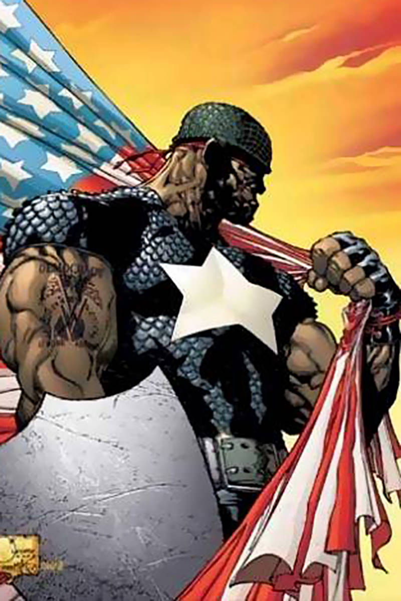 Isaiah Bradley Captain America from the Marvel Comics.