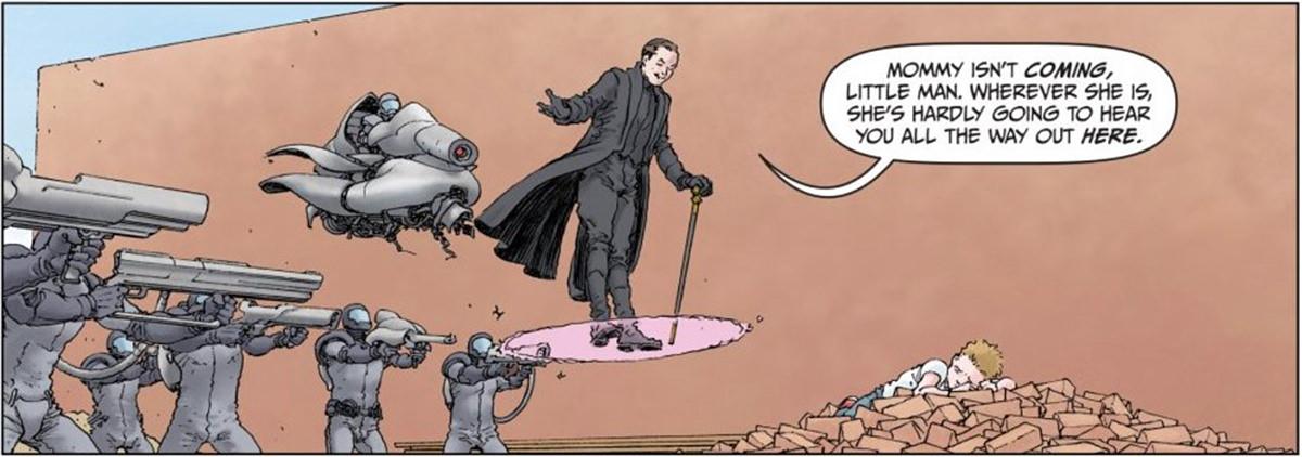 Jupiter's Legacy comic book panel.